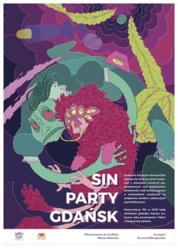 Plakat SIN Party Gdańsk